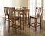 5-Piece Pub Dining Set with Turned Leg and Shield Back Stools in Classic Cherry Finish - Crosley Furniture - KD520010CH