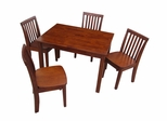 5-Piece Set - Table with 4 Mission Juvenile Chairs in Cottage Oak - K48-2532-263-4
