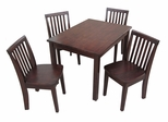 5-Piece Set - Table with 4 Mission Juvenile Chairs in Java - K15-2532-263-4