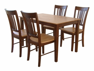 5-Piece Set - Table with 4 San Remo Splatback Chairs in Cinnamon / Espresso - K58-3048-C102-4