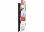 5 Pocket ALBA Black Wall Document Display