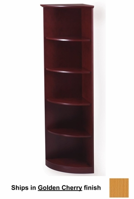 5 Shelf 1/4 Round Bookcase in Golden Cherry - Mayline Office Furniture - VBQ5GCH