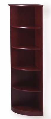5 Shelf 1/4 Round Bookcase in Sierra Cherry - Mayline Office Furniture - VBQ5CRY