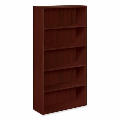 5-Shelf Bookcase - Mahogany - HON105535NN