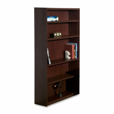 5-Shelf Bookcase - Mahogany - LLR68597