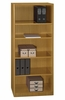 5-Shelf Bookcase - Quantum Modern Cherry Collection - Bush Office Furniture - QT3605MC