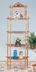 5-Tier Display Rack in Oak - Chace - 02283-O
