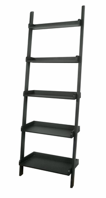 5-Tier Leaning Shelf in Black - SH67-2660