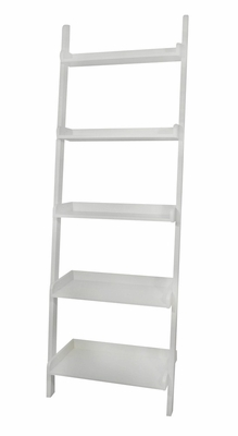 5-Tier Leaning Shelf in White - SH69-2660