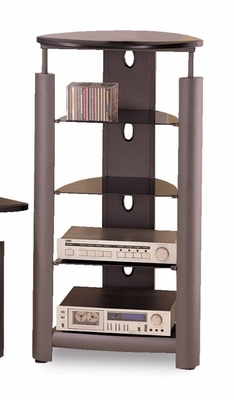 5 Tier Media Tower in Black / Silver - Coaster