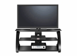 "50"" Flat Panel Plasma LCD HD TV Stand / Media Console Center in Glossy Black - TVS-766-12"