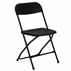 500 LB HERCULES Black Plastic Folding Chair - LE-L-3-BK-GG