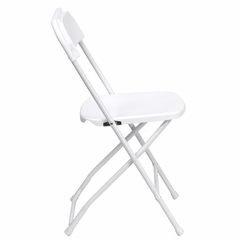 500 LB HERCULES Premium White Plastic Folding Chair - LE-L-3-WHITE-GG
