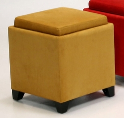 530 Micro Fiber Storage Ottoman in Yellow - Armen Living - LC530OTMFYE