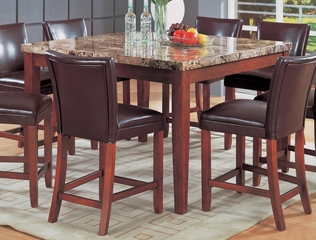 54 Inch Square Counter Height Dining Table in Medium Brown - Coaster