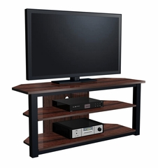 "55"" Flat Panel Plasma LCD HD TV Stand / Media Console Center in Black / Walnut - TVS-586-2"
