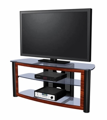 "55"" Flat Panel Plasma LCD HD TV Stand / Media Console Center in Glossy Black / Red Walnut - TVS-596430-5"