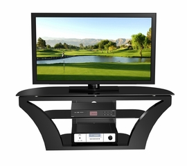 "55"" Flat Panel Plasma LCD HD TV Stand / Media Console Center in Glossy Black - TVS-889-2"