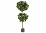 "57"" Sweet Bay Double Ball Topiary Silk Tree - Nearly Natural - 5311"
