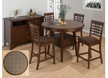 5PC Round Canted Leg Counter Height Table Set - 976-48