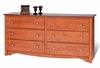 6 Drawer Dresser in Cherry - Monterey Collection - Prepac Furniture - CDC-6330