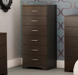 6-Drawer Dresser in Chocolat - Step One - South Shore Furniture - 3159066