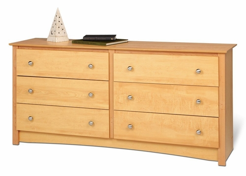 6 Drawer Dresser in Maple - Sonoma Collection - Prepac Furniture - MDC-6330