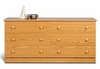 6 Drawer Dresser in Oak - Prepac Furniture - OBD-5828