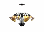 6-Light Lilies Favrile Fixture - Dale Tiffany