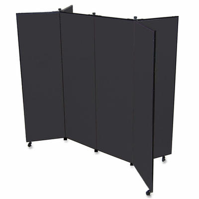 6 Panel Mobile Tower Display - Black - SCXCDS606SX