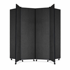 6 Panel Mobile Tower Display - Black - SCXCDS686SX