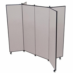 6 Panel Mobile Tower Display - Gray - SCXCDS606CG