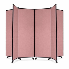 6 Panel Mobile Tower Display - Mauve - SCXCDS606CM