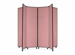 6 Panel Mobile Tower Display - Mauve - SCXCDS686CM