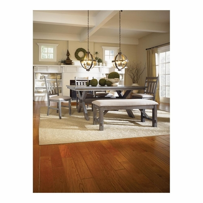 6 Pc. Turino Dining Set - Dining Table, Bench and 4 Side Chairs - Powell Furniture - POWELL-457-417M5