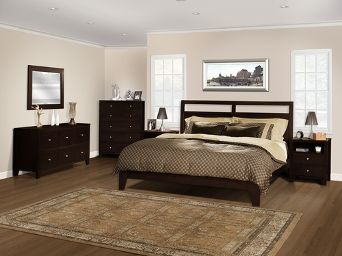 6-Piece Bedroom Furniture Set with Cal King Size Bed - Dominique - Lifestyle Solutions - DMQ-6PCK-CP-SET