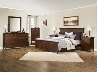 6-Piece Bedroom Furniture Set with King Size Bed - Asti - Lifestyle Solutions - ABN-6PEK-BA-SET