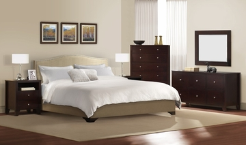 6-Piece Bedroom Furniture Set with King Size Bed - Magnolia - Lifestyle Solutions - MGL-6PEK-CP-SET