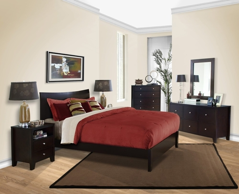 6-Piece Bedroom Furniture Set with Queen Size Bed - Canova - Lifestyle Solutions - CNV-6PQN-CP-SET