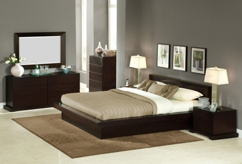 6-Piece Bedroom Furniture Set with Queen Size Bed - Zurich - Lifestyle Solutions - ZUR-6PQN-CP-SET