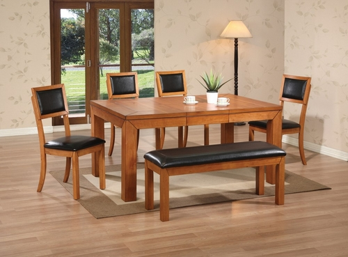 6-Piece Dining Room Furniture Set in Light Natural - Coaster - 102131-3-DSET