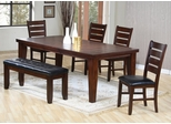 6-Piece Dining Set in Dark Oak - Coaster