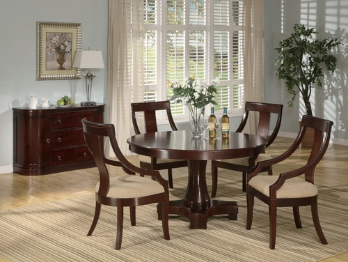 6-Piece Dining Set in Deep Cherry - Coaster