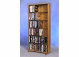 6 Row Dowel 240 Capacity DVD Cabinet Tower - 615-24