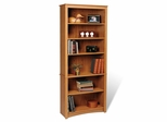 6 Shelf Bookcase in Oak - Sonoma Collection - Prepac Furniture - ODL-3277
