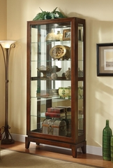 6 Shelf Curio Cabinet with Mirrored Back - 950174