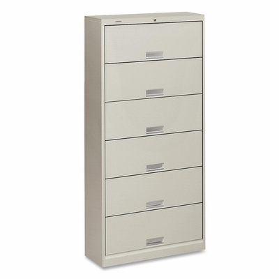 6-Shelf Letter File - Light Gray - HON626LQ