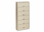 6-Shelf Letter File - Putty - HON626LL