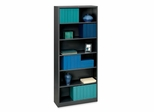 6 Shelf Metal Bookcase - Black - HONS82ABCP