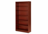 6 Shelf Panel Bookcase - Cherry - LLR89054